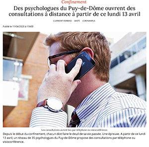 Presse, Des psychologues du Puy-de-Dôme ouvrent...di 13 avril - Clerm