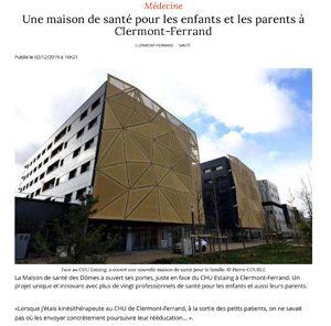 Presse : une maison de santé pour les enfants et les parents à Clermont-Ferrand